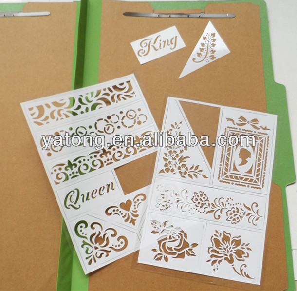 Removable, Non-toxic, New Fashion, Christmas, Stencil White PVC Sticker