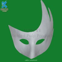 2016 Most popular eco-friendly disposable white pulp mask for movie props