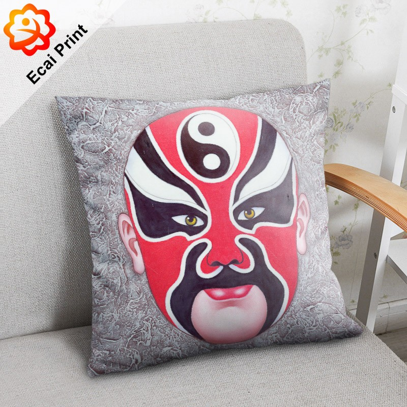 Fashion good-looking silky sublimated pillow with images