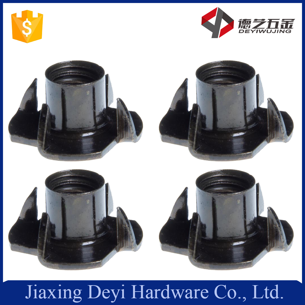 Hot Sale Chair Wood Door 8-32 Stainless Steel DIN1624 Tee Nut With Four Prongs