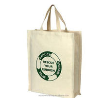 Customized Standard Size Plain Tote Bag Cotton With Logo Printing