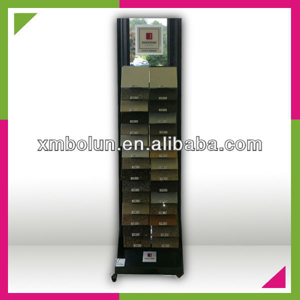 iron showroom display racks for granite and marble tiles