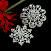Fancy Crystal Brooch Vintage Snowflake Brooch