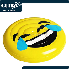 2017 Hot Sale Emoji Face Giant Pool Float Best For Pool Party and Beach Enjoy Yourlife on the cute raft