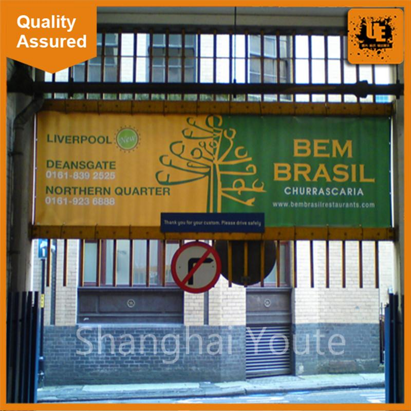 Promotional hanging flag hanging scroll animation banner cheap fabric banners with high quality