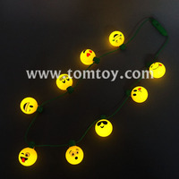 Party Favors LED Light Up Emojis Ball Bulb Necklace