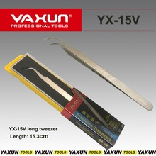 YAXUN YX-15V long tweezer High-precision Super Hard Sharp Tweezer mobile Repairing tweezer Curved tweezer for Electronic repair