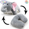 F346 Portable Animal Elephant Convertible U-shaped Multifunctional Cushion Animal Shaped Neck Massager