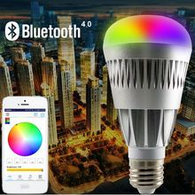 Wireless Bluetooth E27 LED Light Bulb Speaker, Dimmable Color Changing Remote Control Recessed Ceiling Light with 18 Colors