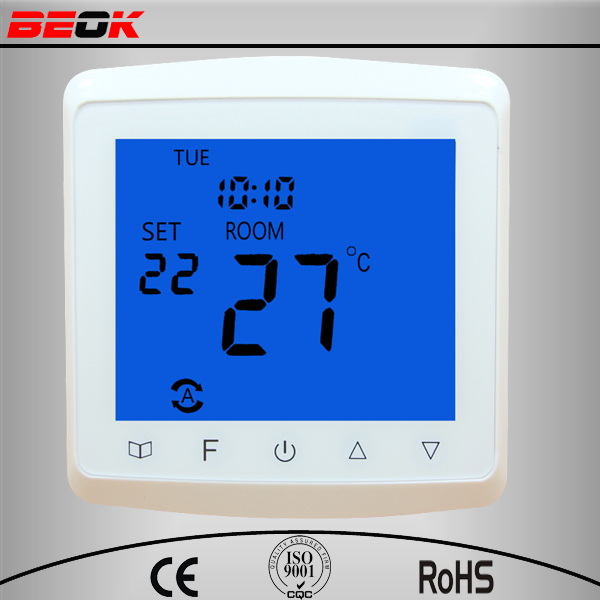 Hvac room floor digital electronic touchscreen control 3A thermostat