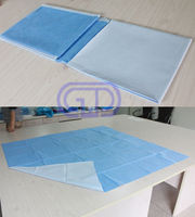 Disposable surgical laminated table cover