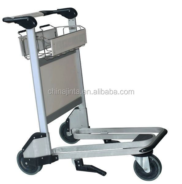 lightweight baggage hand truck foldingtrolley/ aluminium airport trolley carts with wheel