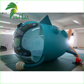 Custom Inflatable Spacecraft / Giant RC Model Guangzhou Hongyi Craft Suppliers RC Blimp Airship