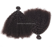 Wholesale 8-30inch 100% human hair extensions afro kinky curly hair wefts, Brazilian hair bundles on sell