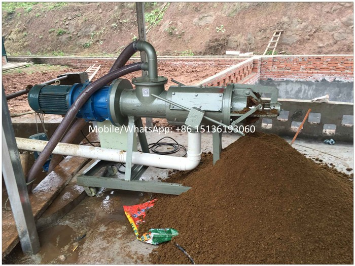 Animal pig manure fermentation squeezing machine price