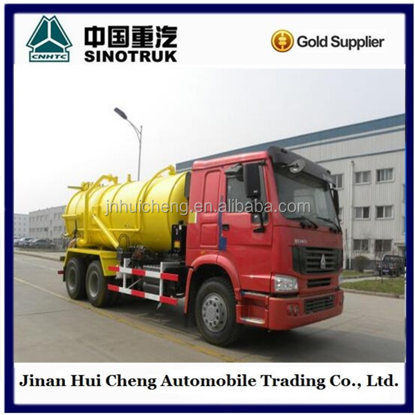 Sinotuck howo Gold Prince Sewage Suction Tanker Trucks 290hp Vacuum Trucks For Sales