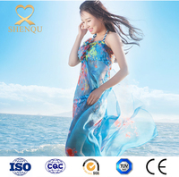 2017 summer women printed polyester chiffon beach scarf shawl swimwear cover-up sarong oversized chiffon scarves and shawls