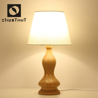 Contemporary carving wood vintage bedside table lamp home interior decor