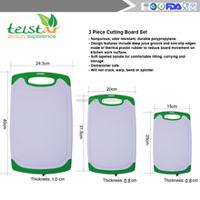 Manufacturer of promotional big medium small 3 PCS green plastic cutting board, and PP cutting board