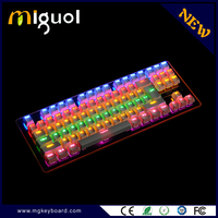 2016 New Fashion Mechanical Switch all keys conflict-free RGB Backlight gaming keyboard Mechanical keyboard