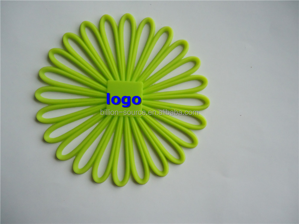 Custom Wholesale FDA High Quality Silicone Heat resistant Sunflower Placemats