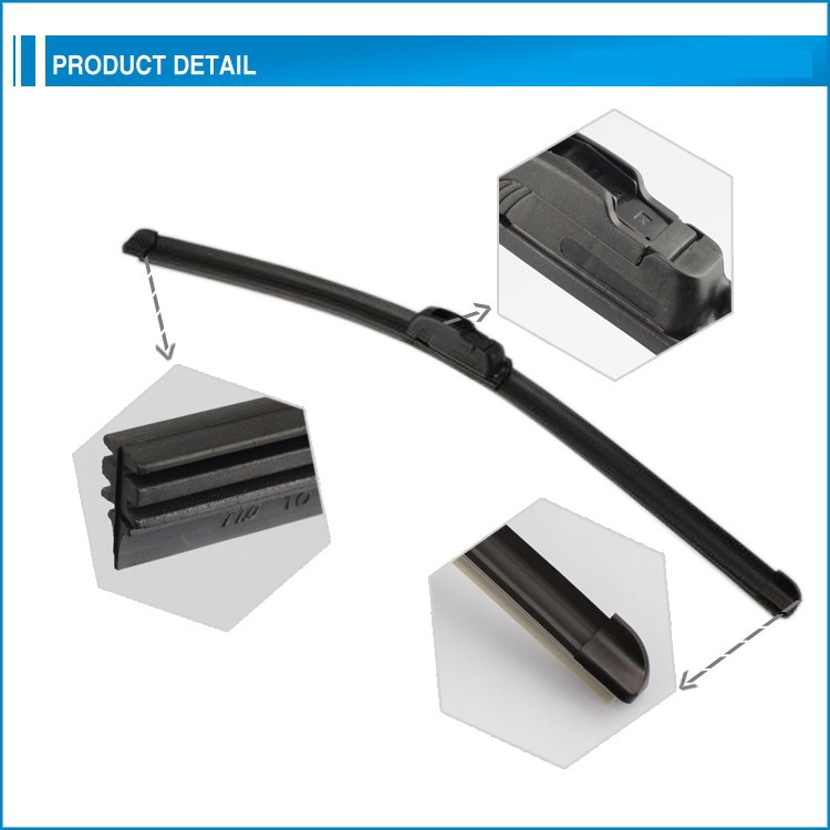 Long durable,good wipping white windshield wiper