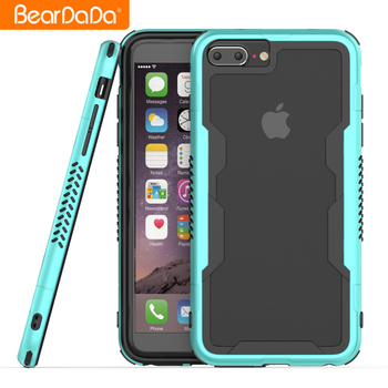 Hot Sale 2018 bumper cover for iphone 8 plus,frame bumper tpu pc case for iphone 8 plus