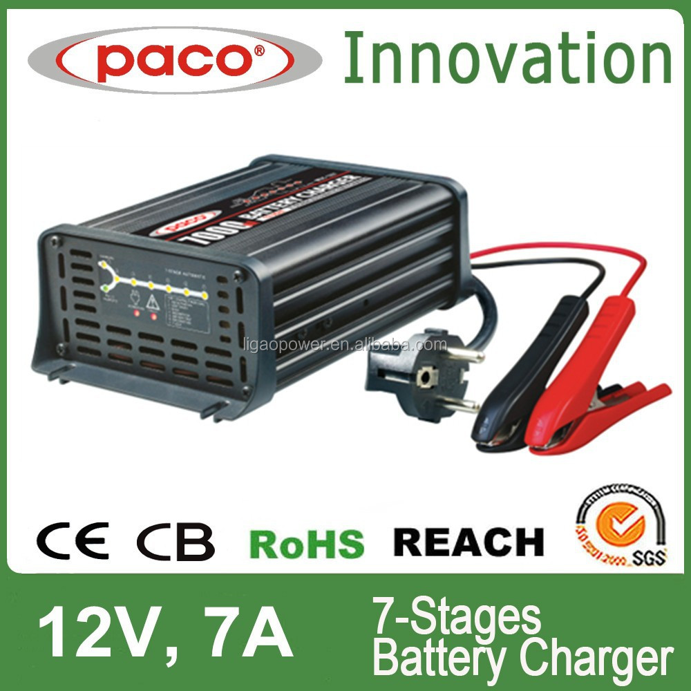 2015 Trade Assurance 12V 7A 110V~, 60Hz CE RoHS Approved 7-stage Car Battery Charger