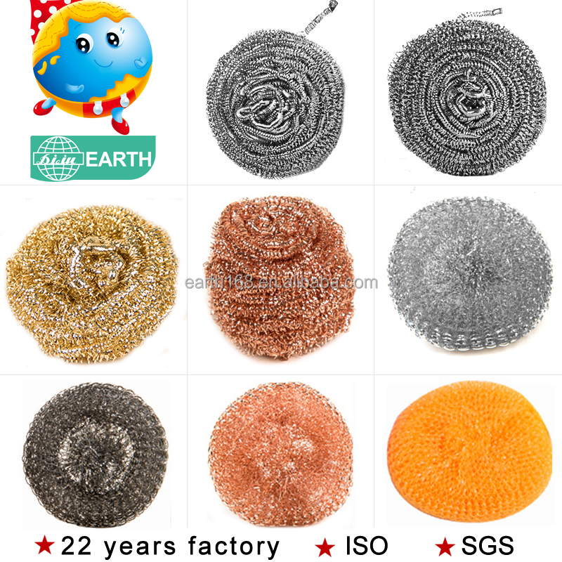 23 years factory for household hot dipped copper plated metal clean SCOURER/SCRUBBER
