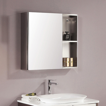 high quality 700mm wall mounted bathroom stainless steel mirror cabinet