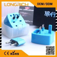 Welcomed At CES Trade Show Outbound Travel Adapters For Cooperation With Cute Package And Fully CE&ROHS Approved