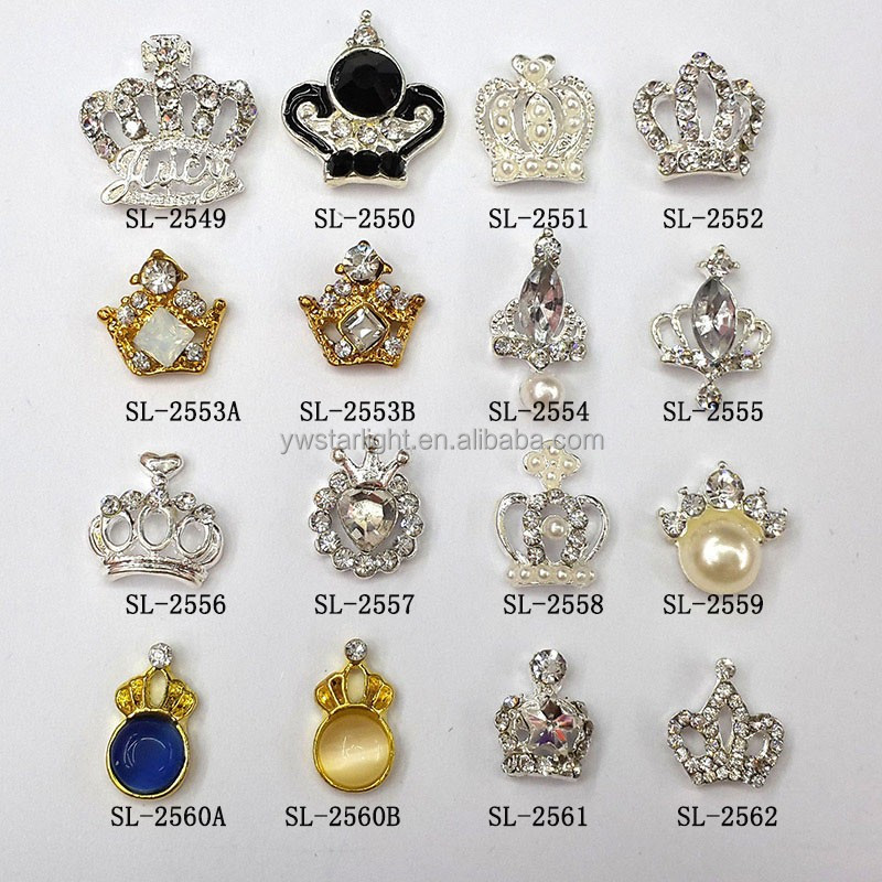 3d crown nail art charms nail art supplies 3d nail art molds