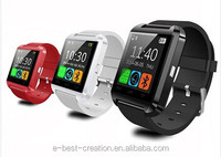 U8 android smart watch mobile phone 2015 with bluetooth4.0,support multi-language and intelligent functions.