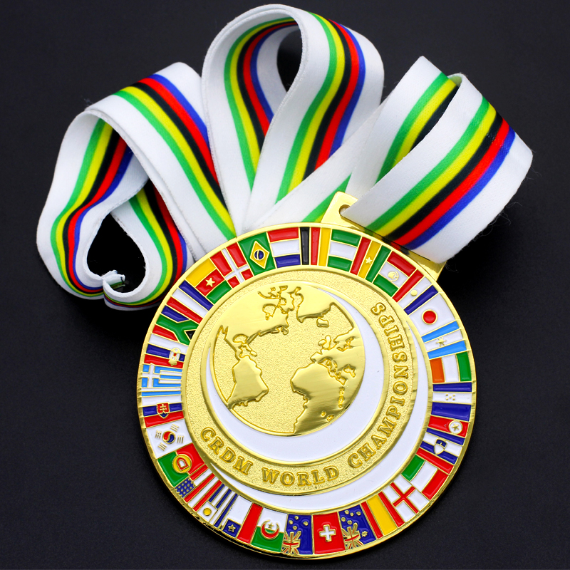 Wholesale Customized Metal Awards Gold Karate World Cups Medal