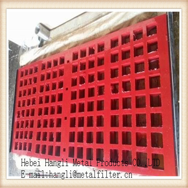 Hangli poly vibrating screen, basalt pu screen mesh, poly screen mesh for ming