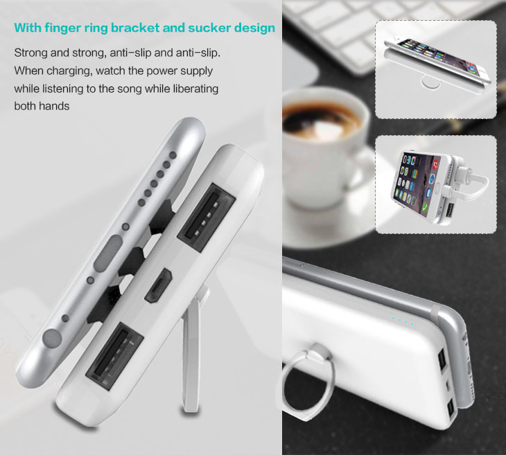 Hot Products 2017 Power Bank mobile charger With Suction Cups