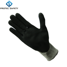 Specification sandy safety nitrile gloves