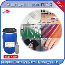 PU-608 waterborne polyurethane synthetic pu liquid resin for screen printing ink