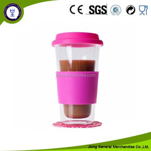 silicone lid glass mug for Espresso