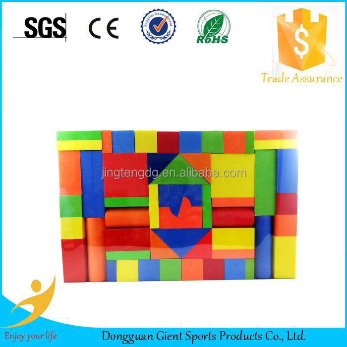 Kids foam wooden grains cube blocks brick toys