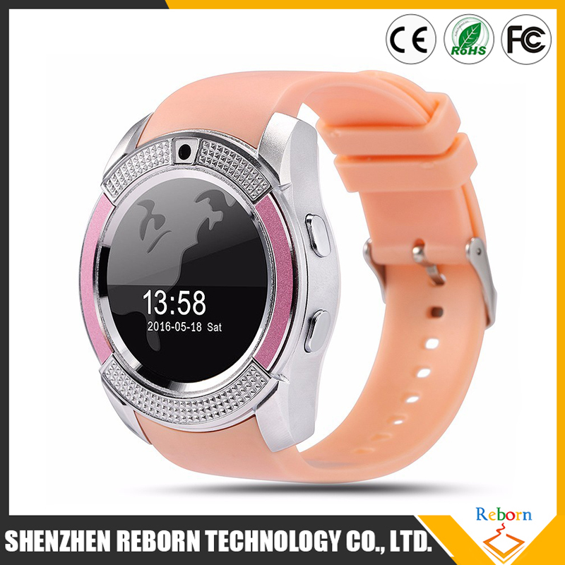 Ultra Thin V8 TF SIM card slot 2G phone Smart Sport Watches for men