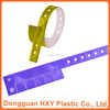 HXY Custom removable tabs l shape vinyl wristbands patient wristbands for hospital
