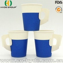 Coffee Bead Color Single Wall Disposable Paper Cup 7oz with Handle
