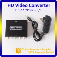 2016 New Metal Housing 480p/720p/1080p R/L Stereo Audio + YPbPr to HD Video Converter
