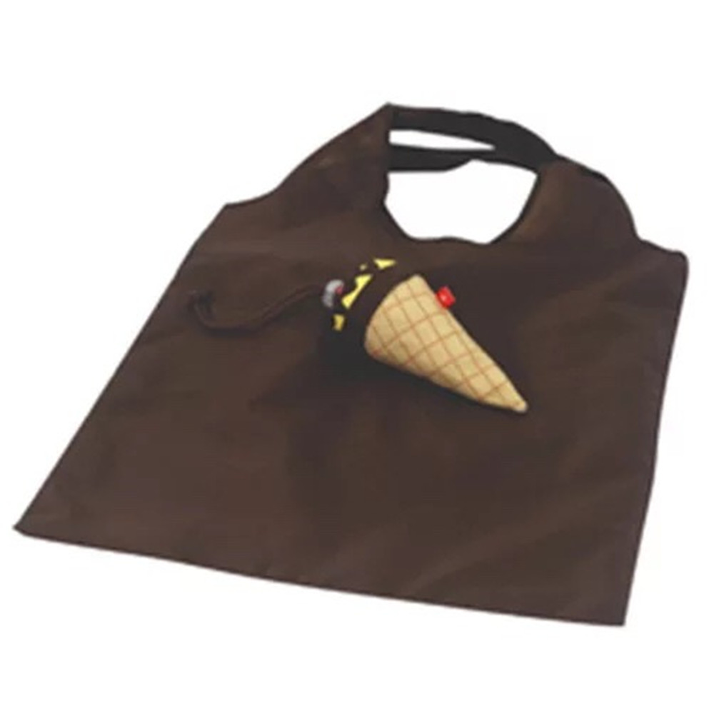 Custom printing promotion 190T polyester foldable ice cream shopping bag