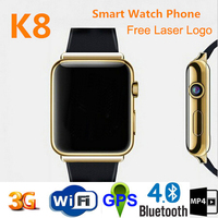 2015 new arrive android WIFI 3g smart watch phone mtk6577 bluetooth