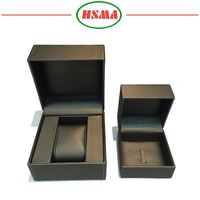 New design delicate pu leather watch packaging box cheap pu watch box