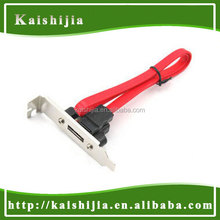 High Quality eSATA to SATA Bracket, PCI Bracket that Converts Mother Board Internal SATA Port to External SATA II (eSATA)