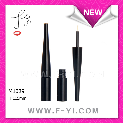 Waterproof black empty plastic eyeliner tube