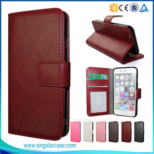 New arrival protective phone leather case for iphone 6 6s wallet case for iphone 6s case